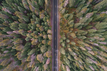 Empty Highway Topdown Arial Drone | Oregon