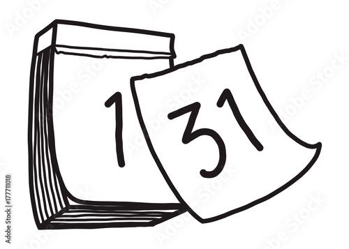 Calendar Drawing Cartoon : Quot calendar cartoon vector and illustration black