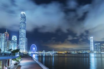 Foto op Aluminium Hong-Kong Victoria Harbor of Hong Kong at night