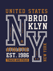 New York  Brooklyn typography design vector image