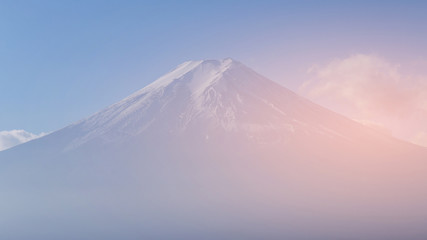 Fuji mountain close up, Japan natural landscape and landmark