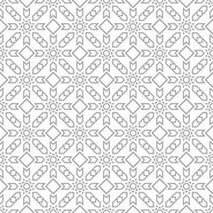 Gray on white geometric ornament. Seamless pattern