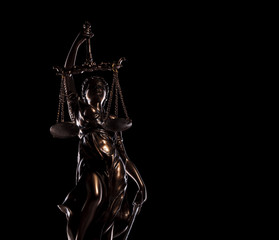 statue of the goddess of justice