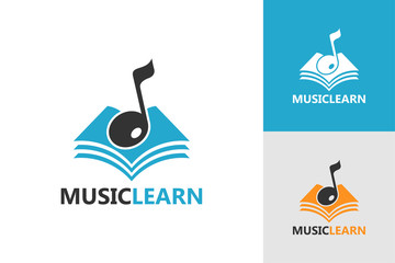 Music Learn Logo Template Design