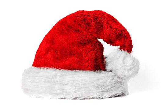 Rote kuschelige Weihnachtsmütze