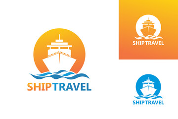 Ship Travel Logo Template Design