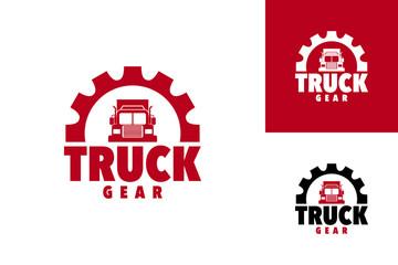 Truck Gear Logo Template Design