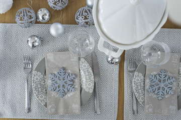 Christmas (Winter) Table Set up