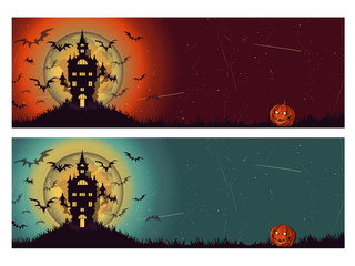 Two diferents Halloween background