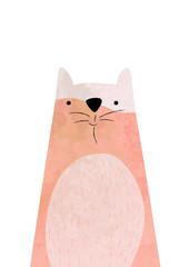illustrated orange cat