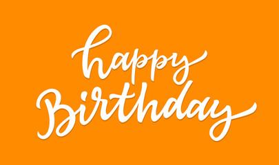 Happy Birthday - vector hand drawn brush pen lettering