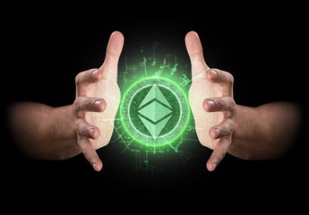 Hands Grasping Cryptocurrency