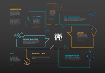 Infographic template made from speech bubbles
