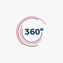 360 Degrees Angle Icon