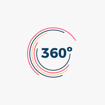 360 Degrees Angle Icon