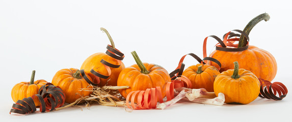 Festive party Halloween panorama banner