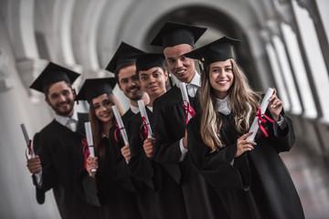 Happy young alumni