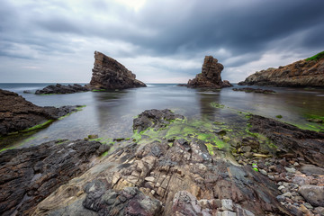 "Sea rocks / Rock formation ""The ships"" near Sinemorets, Bulgaria"