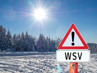WSV! Schild Werbung