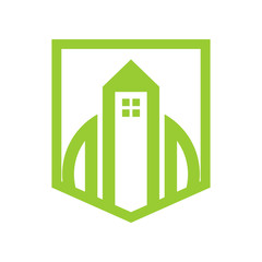 Green Shield Property Simple Graphic