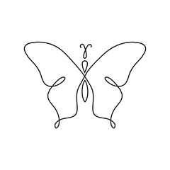 Vector butterfly abstract logo