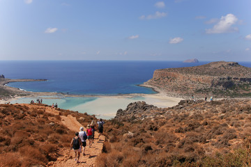 Kap Gramvousa, Balos, Beach, Crete, Kreta, Leute