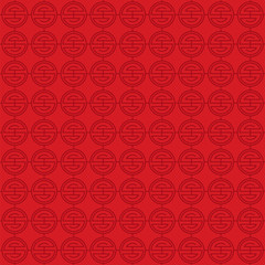 chinese new year background, abstract oriental wallpaper, seamless circle inspiration, vector illustration