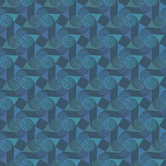 Oriental abstract seamless pattern with spiral elements. Abstract vector background