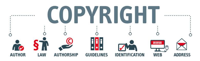 Banner copyright concept