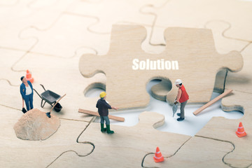 mission complete and problem solution concept