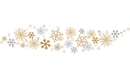 Abstract Christmas Snowflakes Vector Background