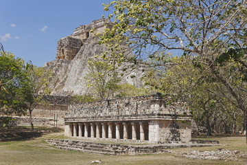 The Pyramid of the Magician, at Uxmal, Mexico