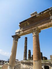 Tempel, Ausgrabungen von Pompeji, Neapel, Kampanien, Italien