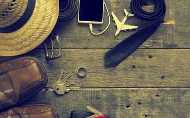 Hipster style travel background