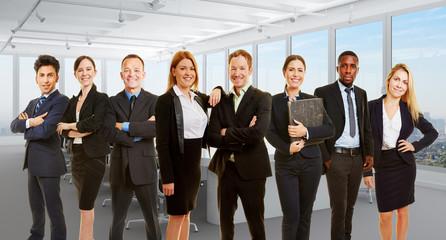 Geschäftsleute Gruppe in Kooperation