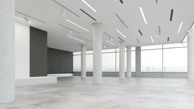 Leere Bürofläche in Loft
