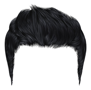 trendy stylish man hairs black colour. beauty style.high hair styling .