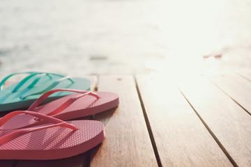 Flip flops at the pier
