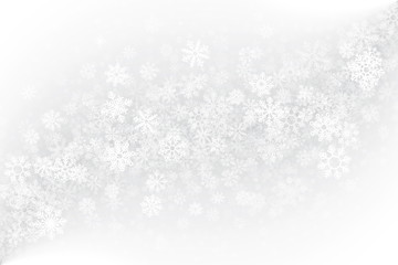 Winter Blank Background Vector. Ice Frost Effect on Glass with Realistic Snowflakes Overlay on Light Silver Backdrop. Merry Christmas Design Element