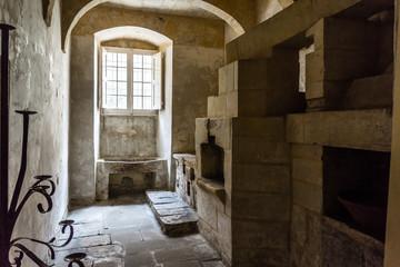Midieval Kitchen oven, sink, stone