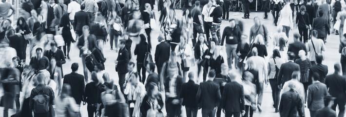 Fototapete - large crowd of people