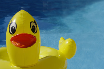 Large yellow ducky pool toy
