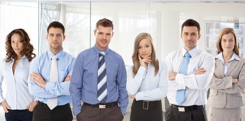Team photo of young businesspeople