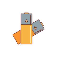 Battery icon, cartoon style