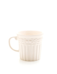 vintage mug on white background