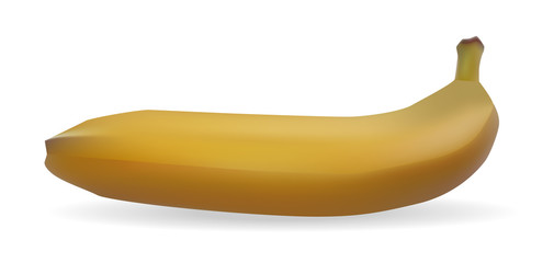 Isolated on white background yellow banana