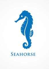 blue seahorse logo