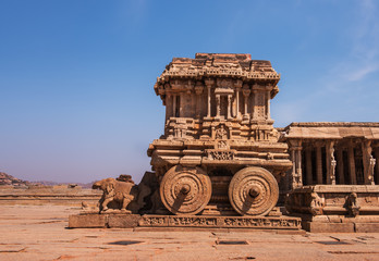 Stone Chariot at Vittala Temple, Hampi, India