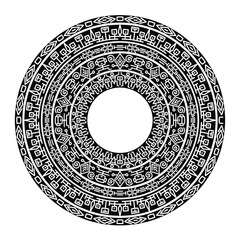 Ancient engraving, vector