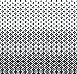 Gradient Floral Vector Pattern. Halftone background. Geometric texture.